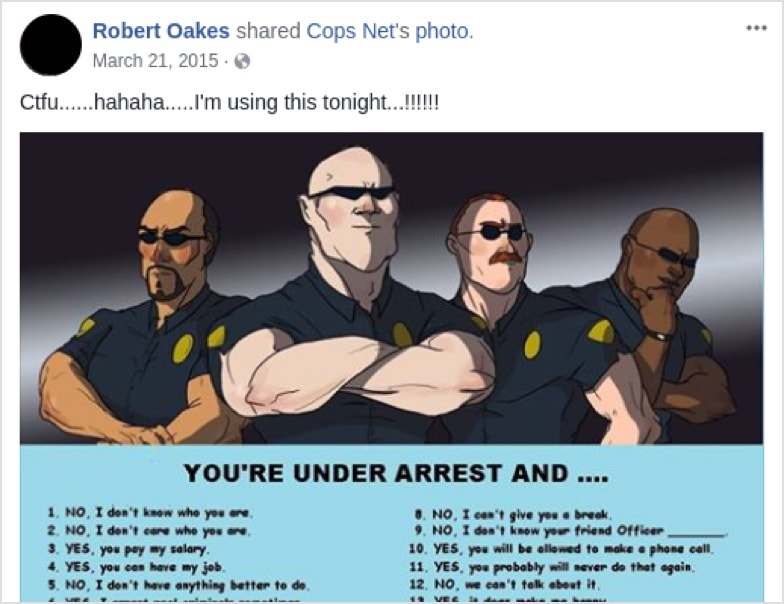 Cops Troubling Facebook Posts Revealed In Plain View Injustice Watch