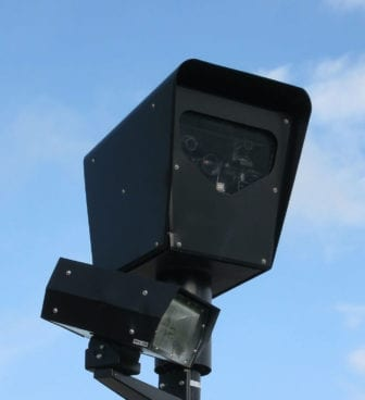 A red light camera in Chicago