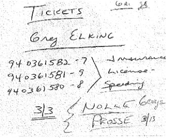 Elking tickets