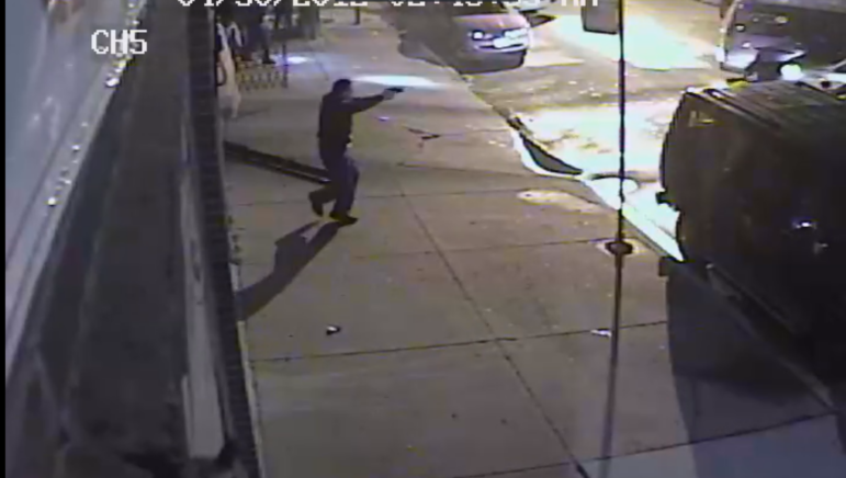 Camera footage released by the city from the scene of a botched 2012 burglary that left one suspect dead and two others seriously wounded.
